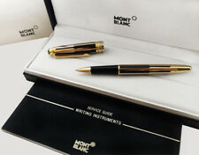Refurbished Montblanc Meisterstuck Solitaire Black | Gold Rollerball Pen