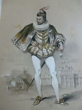 LITHOGRAPHIE FRAGONARD 1840 / LE MIGNON XVIe