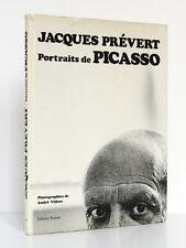 Portraits de Picasso, Jacques PRÉVERT.  Photos André VILLERS. Ramsay, 1981.