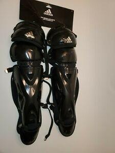 adidas Pro Series Leg Guard 2 Baseball Catchers Gear Black 17 Inch S98307