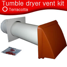 """Universal Tumble Dryer Wall Core Vent Kit Terracotta for 100mm Round 4"""" Hose"""