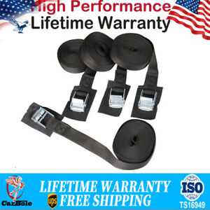 """4 Pack 1""""x 16' Lashing Cargo Tie-Down Strap Padded Cam Lock Buckle Hold 100Pound"""