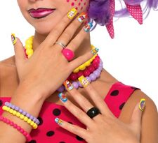 Pop Art Comic Book Style Press On Reusable Nails Bam! Zap Pow! Costume Accessory