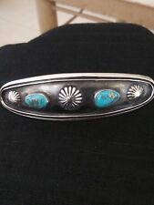 🌵 VTG.ESTATE FIND~NAVAJO Sterling Silver 925 Tourquoise Hair clip barrett