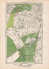 1923 LONDON STREET MAP - ROEHAMPTON,PUTNEY,WIMBLEDON COMMON