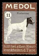 """Germany Poster Stamp - Veterinary Medicine """"Medol"""" with Fox Terrier"""