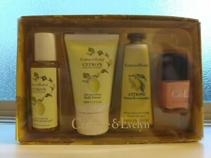 NEW - CRABTREE & EVELYN Citron, Honey & Coriander 4 Piece Set/Traveler Set