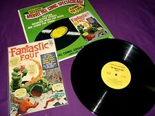 Vintage 1966 Marvel Comics Fantastic Four Golden Record Set w/ 1st Issue Repro