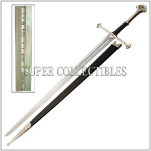 LORT Anduril Sword of Aragorn Stainless Steel Etching Blade come with Stand