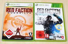 2 XBOX 360 SPIELE SAMMLUNG - RED FACTION GUERILLA ARMAGEDDON - SHOOTER