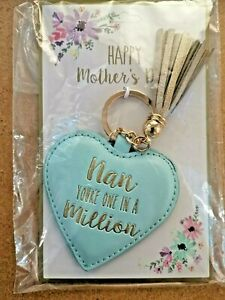 Happy Mother's Day Nan You're One In A Million Key Ring (Blue)