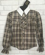 Belstaff Rouches Girls Shirt Check Size 8 Years Brand New Belstaff Riding Shirt