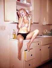 "Nude 1960's Pinup Model Vintage Original 4 x 5"" TRANSPARENCY/Art Pose JG"