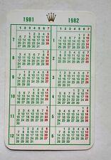 Vintage ROLEX  Calendar 1981-1982 6263 6265 6240 6239 6262 1803 1665 1655