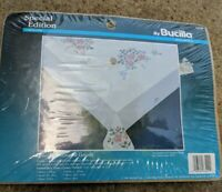 Bucilla Special Edition Petite Bouquet Cross Stitch Tablecloth Kit 63229 52x70