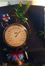 Celebrate the season Spring Blooms Collection Table Thermometer (Hummingbird)