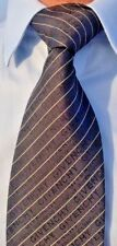 GIVENCHY Mens Tie Black with Silver stripes 100% Silk Made in Italy RRP £169.00