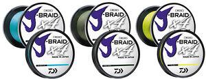 Daiwa J-Braid x4 Fishing Braid Line 150 Yards - JBraid -  Pick Color/Line Test