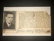 1934 REDS: Junie Barnes, SIGNED Cut (JSC), D.1963, RARE!
