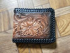 Handmade Stamped Leather Bifold Wallet