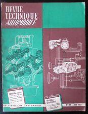 ANCIENNE REVUE TECHNIQUE AUTOMOBILE N° 194 de 1962  SAVIEM ex RENAULT MOTEUR 572