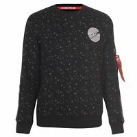 Mens Alpha Industries NASA Reflective Sweater Crew Long Sleeve New