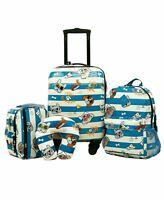 $160 New Travelers Club Traveler's Club Kid's 5PC Luggage Set Hardcase Dog Print