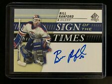 2019-20 SP Authentic Sign Of the Times Bill Ranford #SOTT-BR Edmonton Oilers