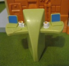 Fisher Price Sweet Street Shopping District Mall Doll House-Green Computer Table