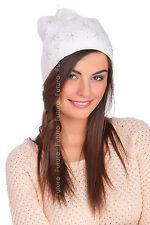 Ladies Warm Beanie Hat Lightweight Cap Sequined Pattern Slouch Skateboard FZ53