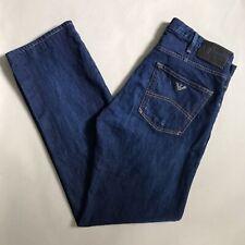 Armani Jeans J21 Regular Fit Navy Blue Stretch Denim Straight 34W 31L *MODIFIED*