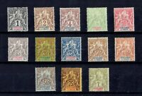 FRENCH COLONIES - SENEGAMBIA & NIGER GOOD SET OF VERY FINE MLH STAMPS Yv. 1-13