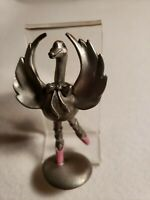 Hudson Fine Pewter Ballerina Swan 1982 #2692 Pink Slippers & Cheeks MINT & RARE!