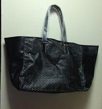 Estee Lauder Tote Bag Medium Size Faux Leather Black GWP New