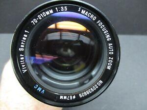 Vivitar Series 1 70-210mm f3.5 macro zoom lens Nikon AI very clean