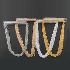 10pcs/lot Waves 2mm Alloy Lobster Clasp Chains DIY Necklace Jewelry Making 17''