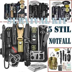 Außen Notfall Survival Gear Kit Set Outdoor Camping Multitool Erste Hilfe Kasten