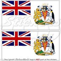 "BRITISH ANTARCTIC TERRITORY Flag UK Vinyl Bumper Decals Stickers, 4,3""(110mm) x2"