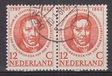 NVPH Netherlands Nederland 693 pair CANCEL BERLICUM Zomerzegel 1957