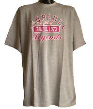 *NEW* Mens Big Size Sao Paulo Brasil Legends Grey Cotton T Shirt - 3XL 4XL 5XL