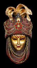 Bunte Venezianische Maske - Rubidus goldfarben - Veronese Wand Deko Gesicht