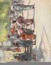 A4 Foto menpes Mortimer 1855 1938 Japón 1901 delante de la manada de impresión de cartel