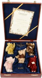 Steiff British Collectors UK Baby Bear Set, 1994-1998 Retired & very Collectable