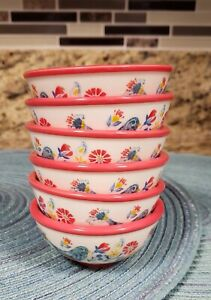 THE PIONEER WOMAN SET OF 6 GLASS MAZIE DIP BOWLS NEW