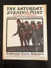 Illustrated  Saturday Evening Post April 16, 1904 James Preston Gun Cover Art