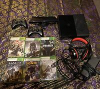 Xbox 360 E Bundle 250gb w/ 6 Games, 2 Controllers, Gaming Headphones, and Kinect