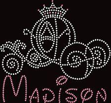 Princess Cinderella Carriage Disney Vacation Hotfix Iron On Rhinestone Transfer