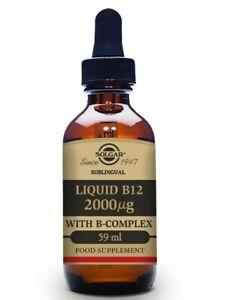 Solgar Sublingual Liquid B12 2000ug with B-Complex 59ml