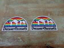 Vintage ABA / NBA Denver Nuggets Old School Patches Set of 2 ALL SEWN