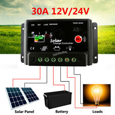 12V/24V 30A Solar Battery Charger Controller for 100W 200W 300W 400W Solar Panel